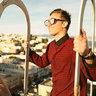 Westbrook // 粉紅色鏡片黑框太陽眼鏡