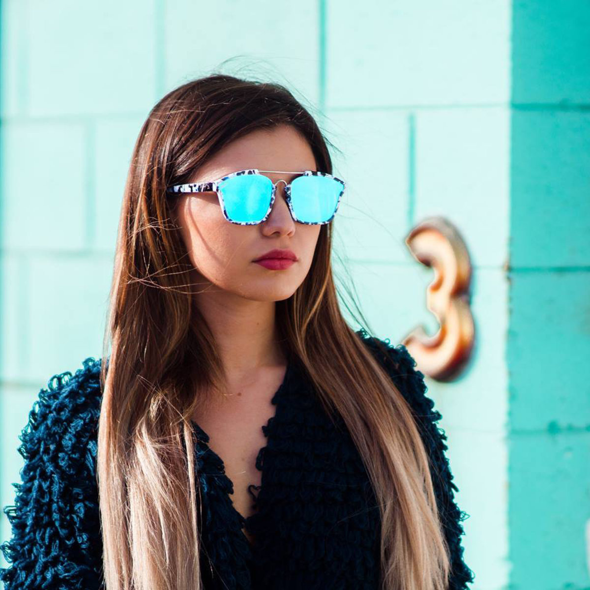 Westbrook // 藍色噴墨紋太陽眼鏡