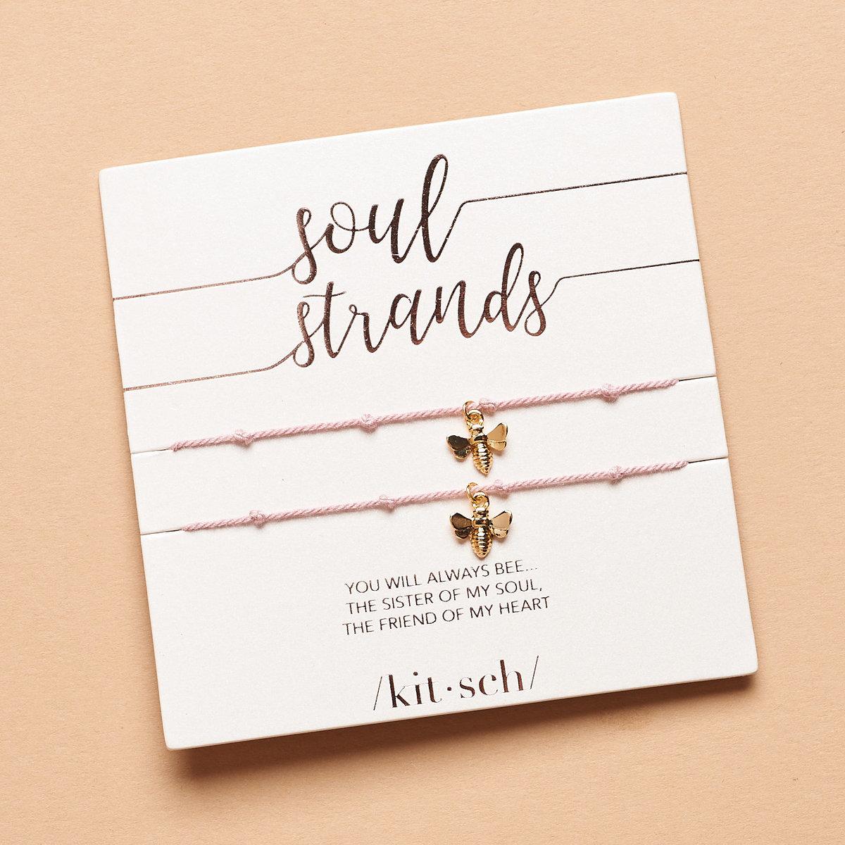 Kitsch Soul Strand Bee Charm Bracelet