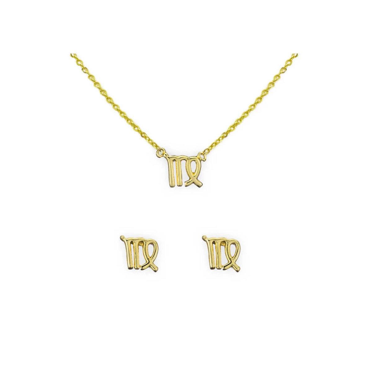 [清倉]處女座頸鏈及耳環組(14K金)