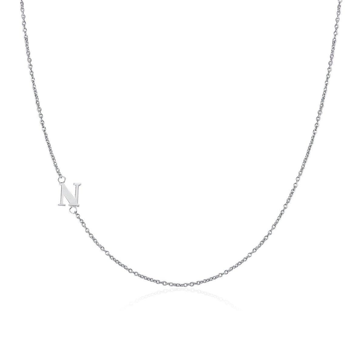 .925純銀鍍18K金N字母項鍊 | 情人節禮物