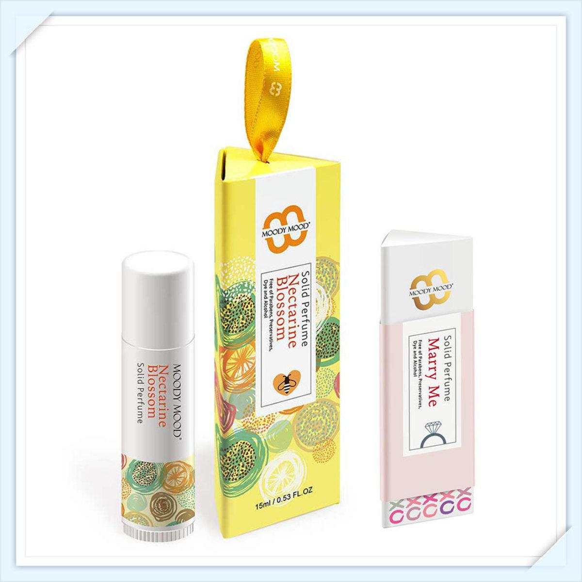 韓國製手工香水膏兩支裝(15g+5g)・杏桃花與蜂蜜及Marry Me
