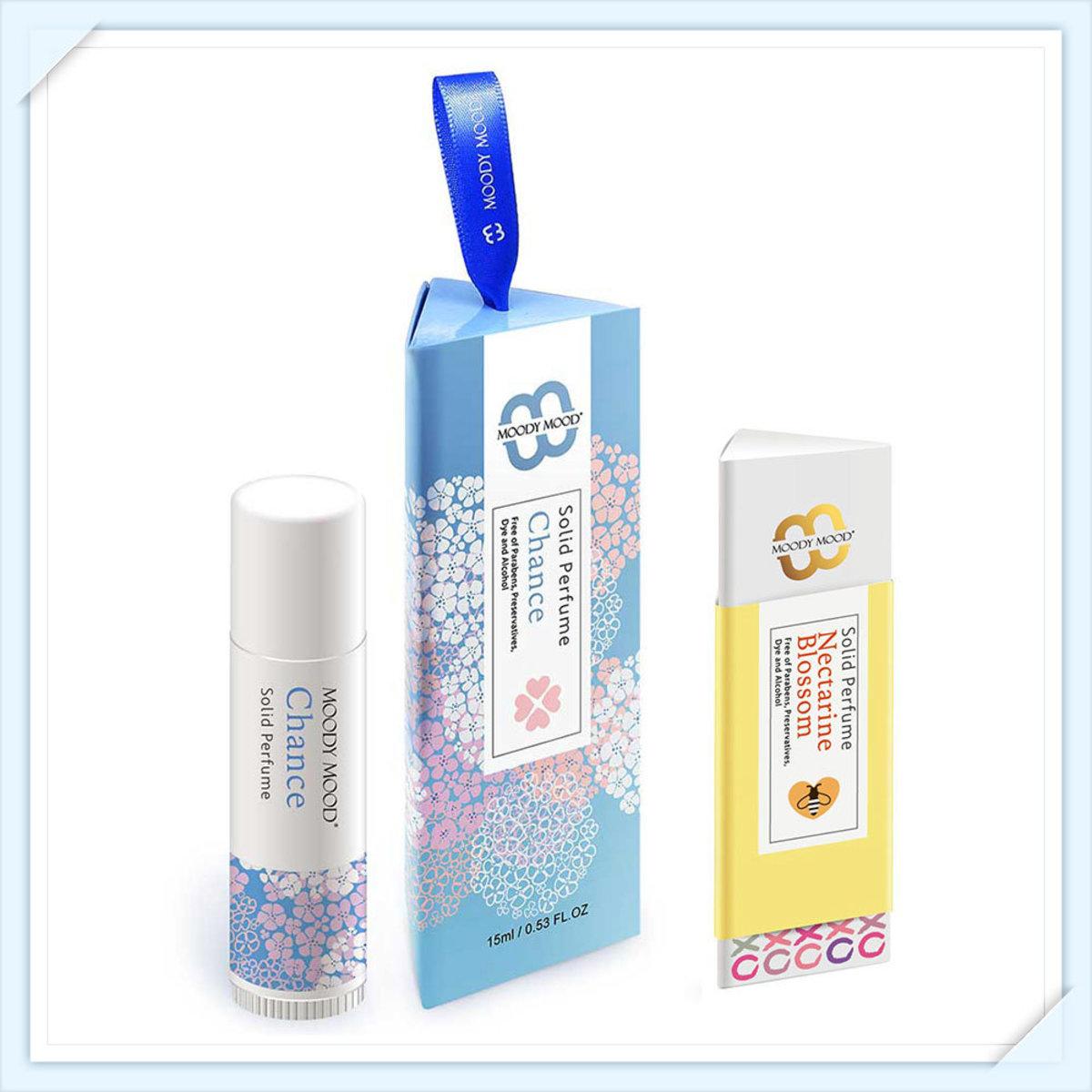 韓國製手工香水膏兩支裝(15g+5g)・Chance及杏桃花與蜂蜜
