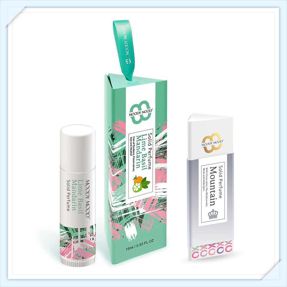 韓國製手工香水膏兩支裝(15g+5g)・青檸羅勒與柑橘及Silver Mountain