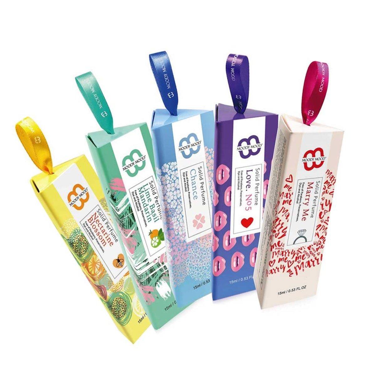Handmade Solid Perfume Set(15gx5)