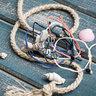 Black Mini Anchor Bracelet・Black