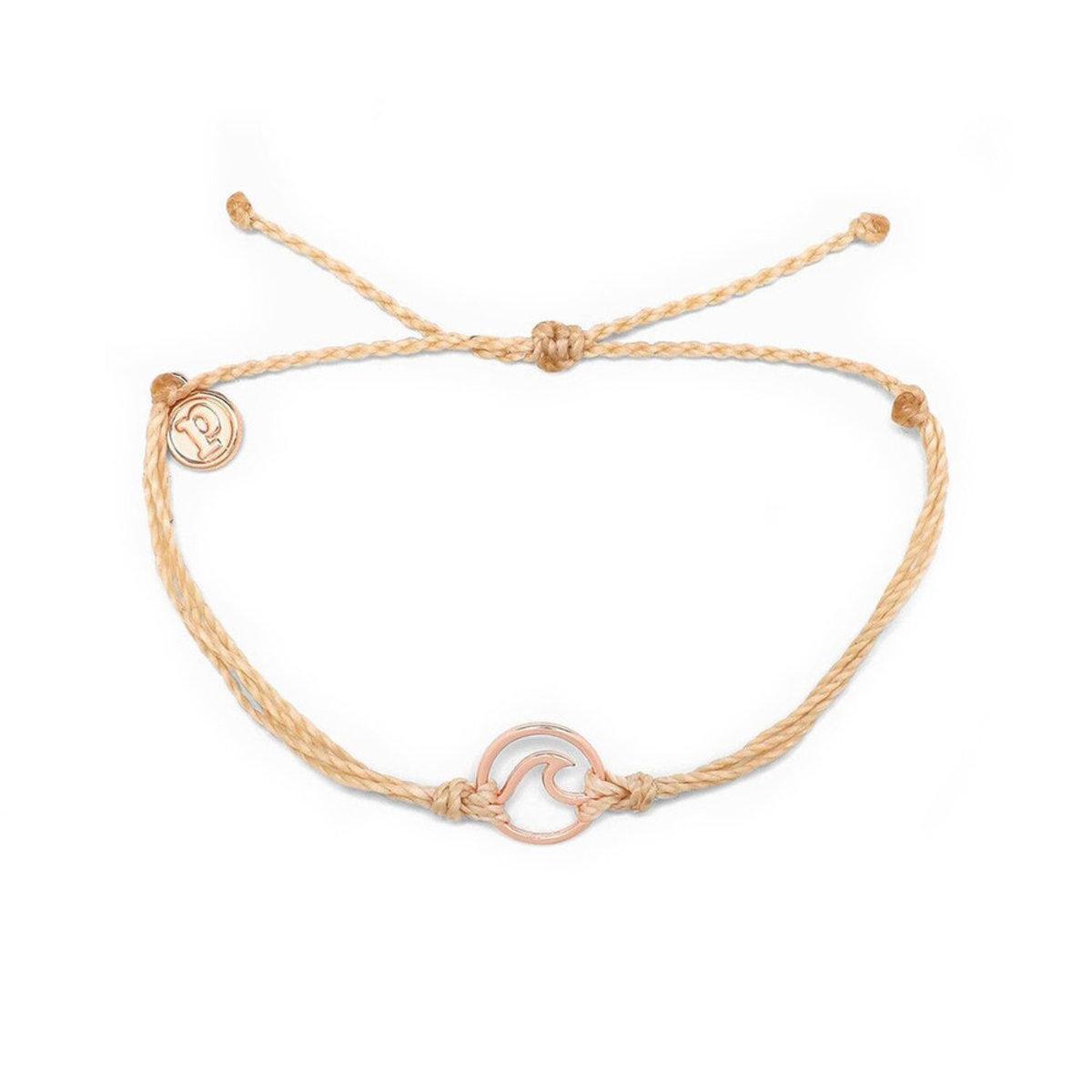 Rose Gold Wave Bracelet・Cream