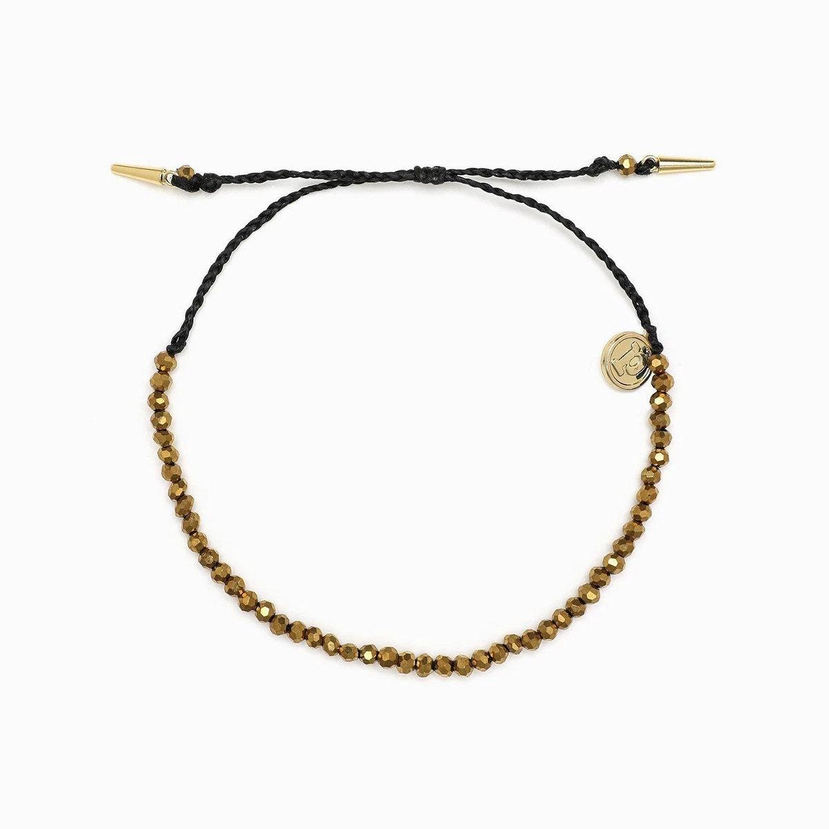 Roam Bead Black Bracelet
