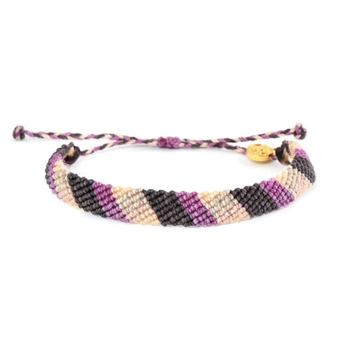 編織防水手繩・Purple Stripe