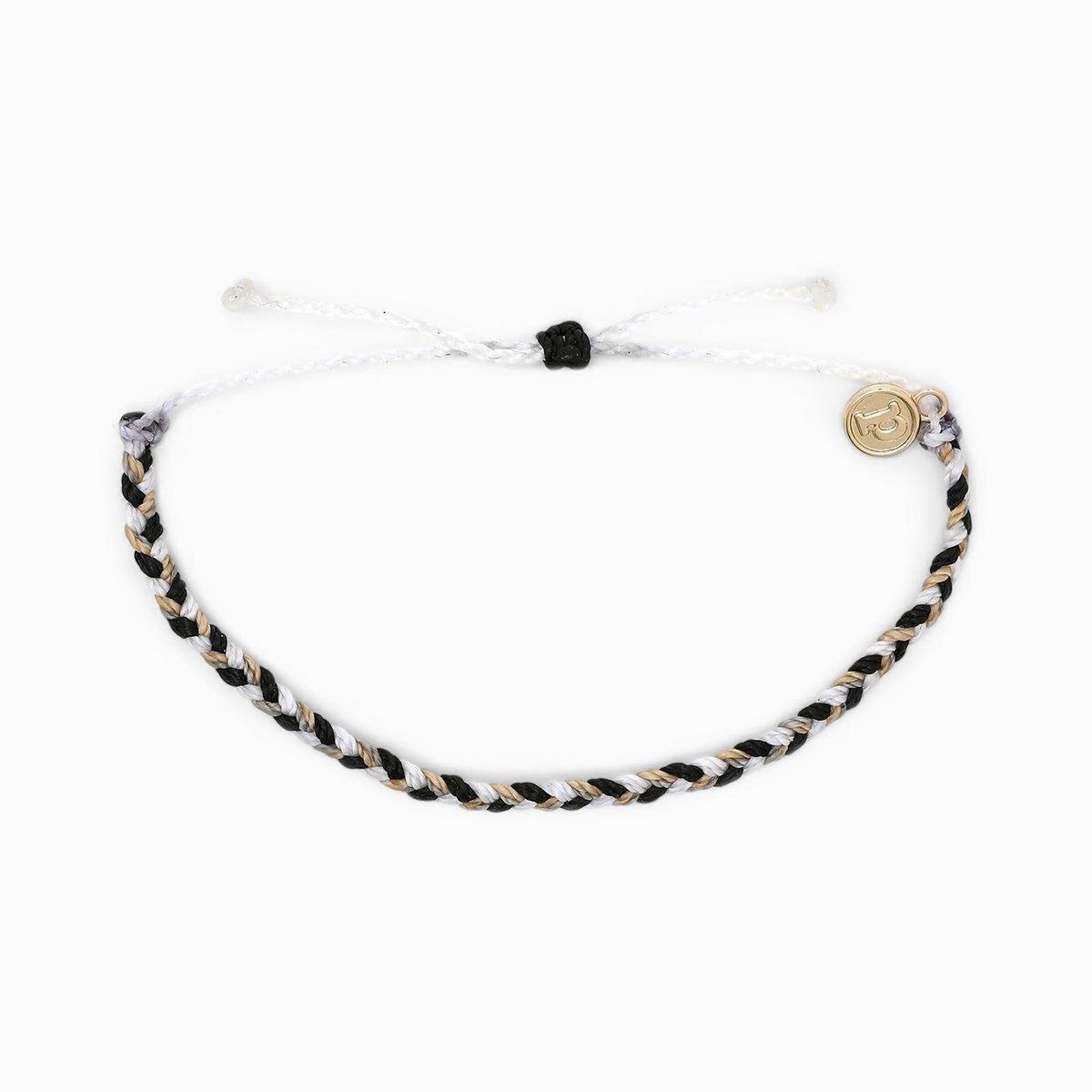 Mini Braided Bracelet - Zebra
