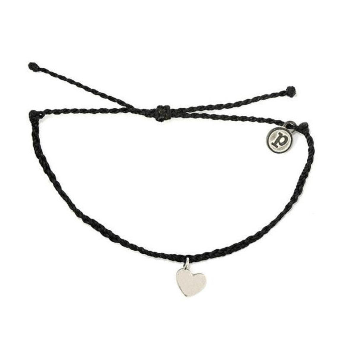 Heart Bracelet・Silver Black