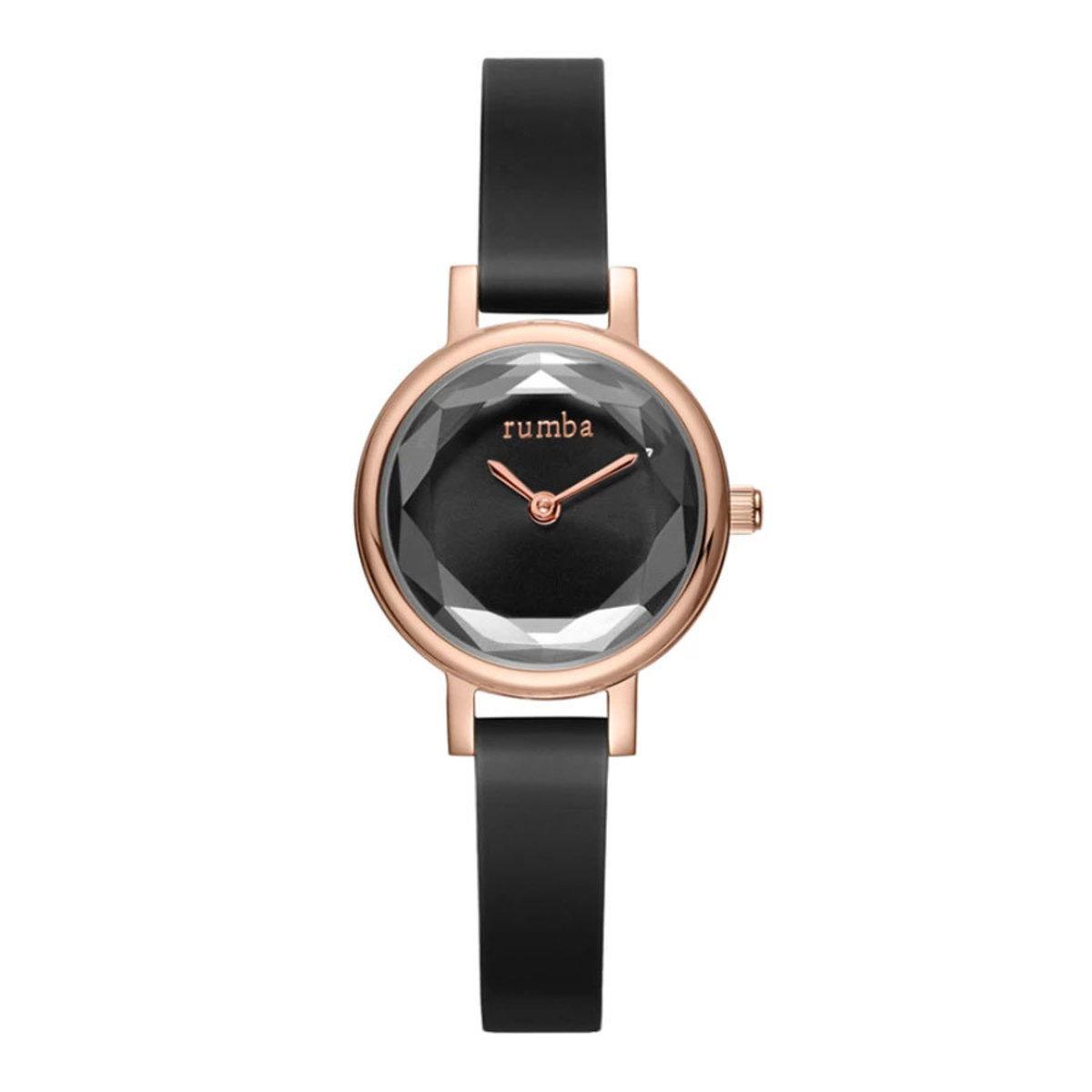 Venice Gem Silicone Watch・Black Diamond