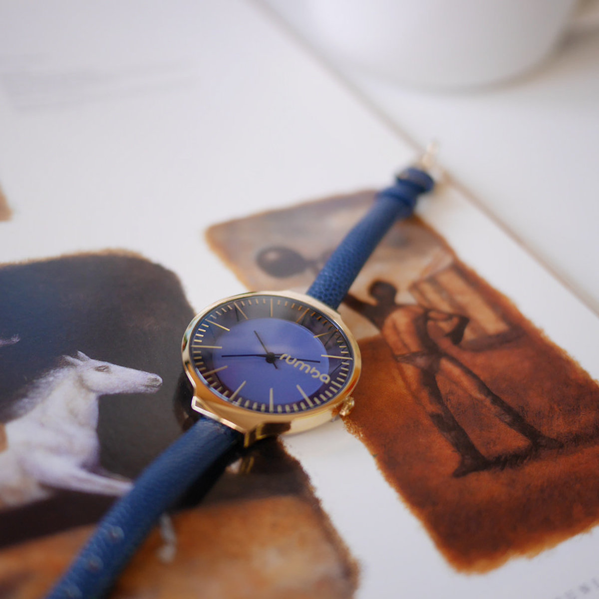 Orchard Leather Watch・Midnight Blue