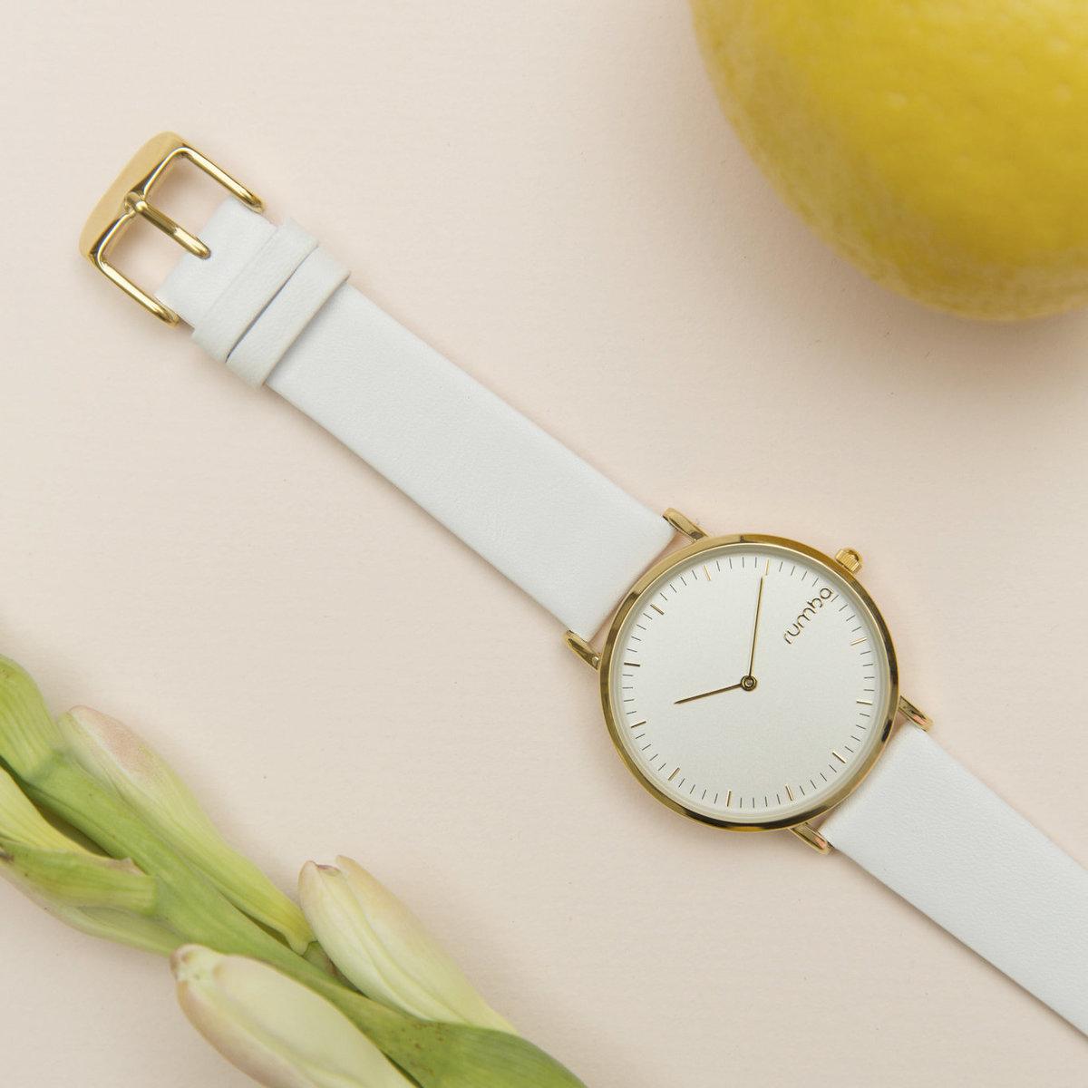 Soho Leather Watch 36mm・White