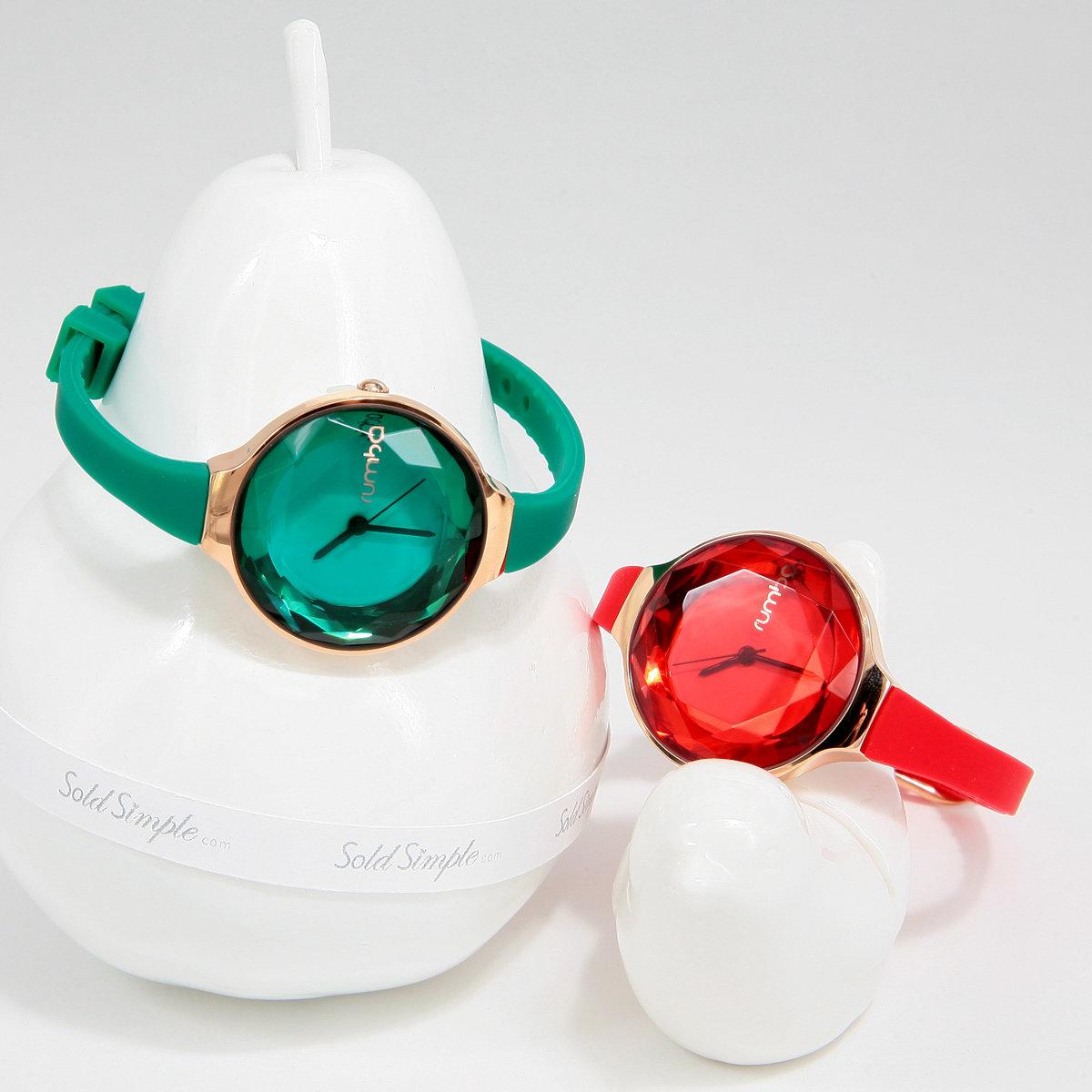 紅色寶石切面手錶