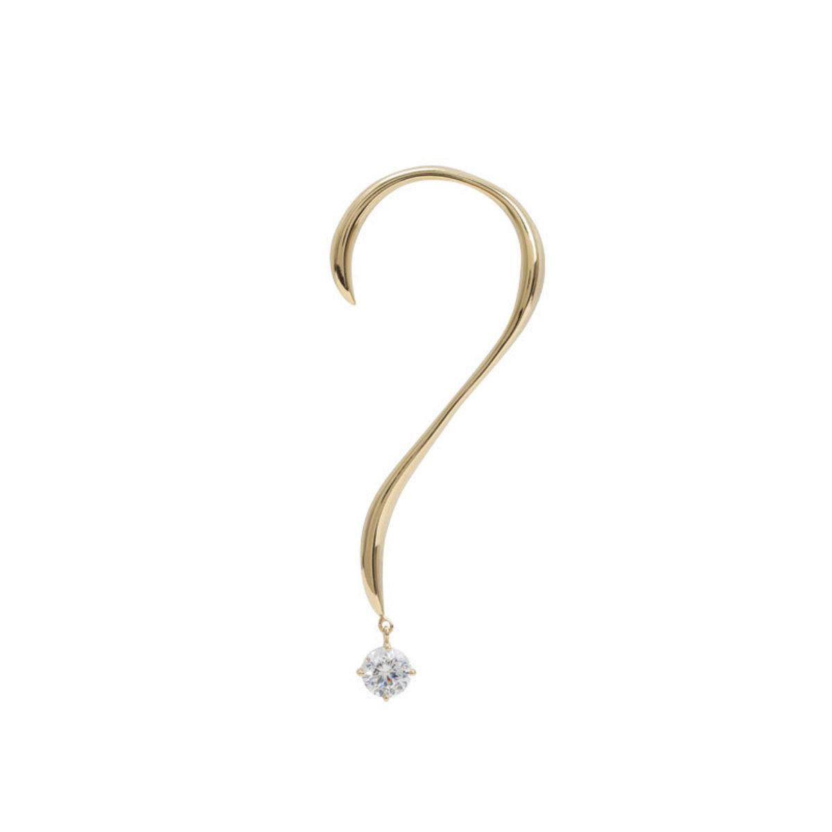 Fancy 120V Collection Question Mark (?) Earring (Single Earring)
