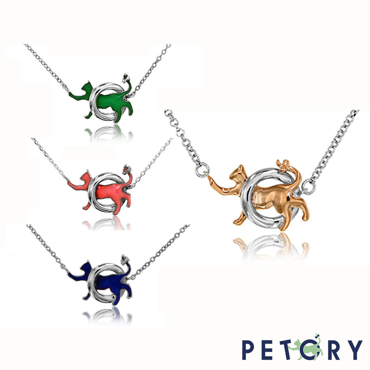 Petory exclusive dainty necklace ( Rose/Green/Blue/Pink)
