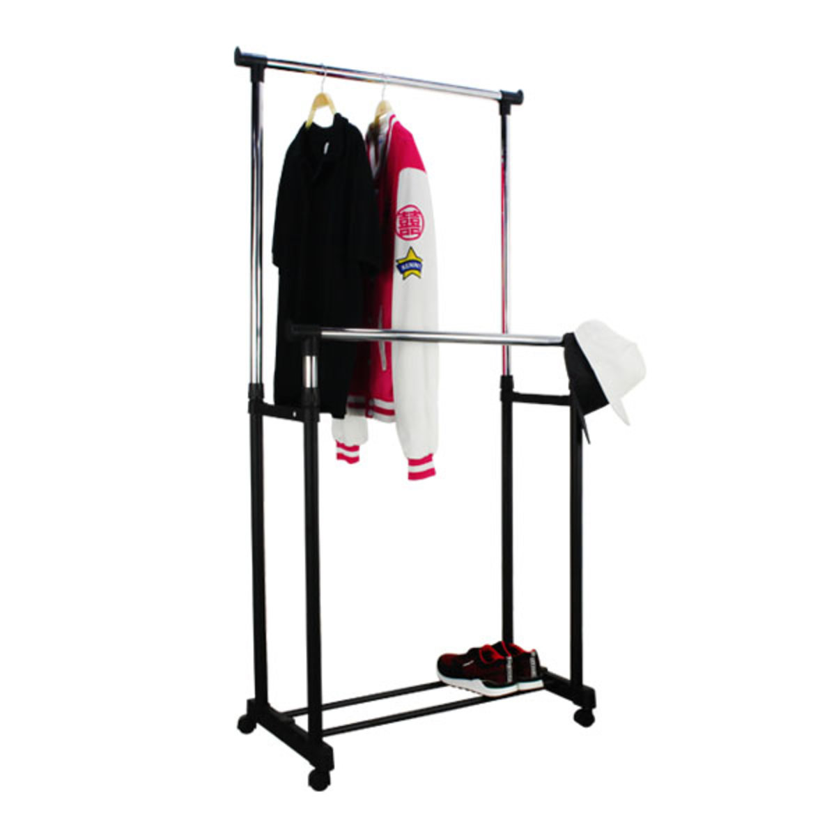 Double Rail Adjustable Garment Rack
