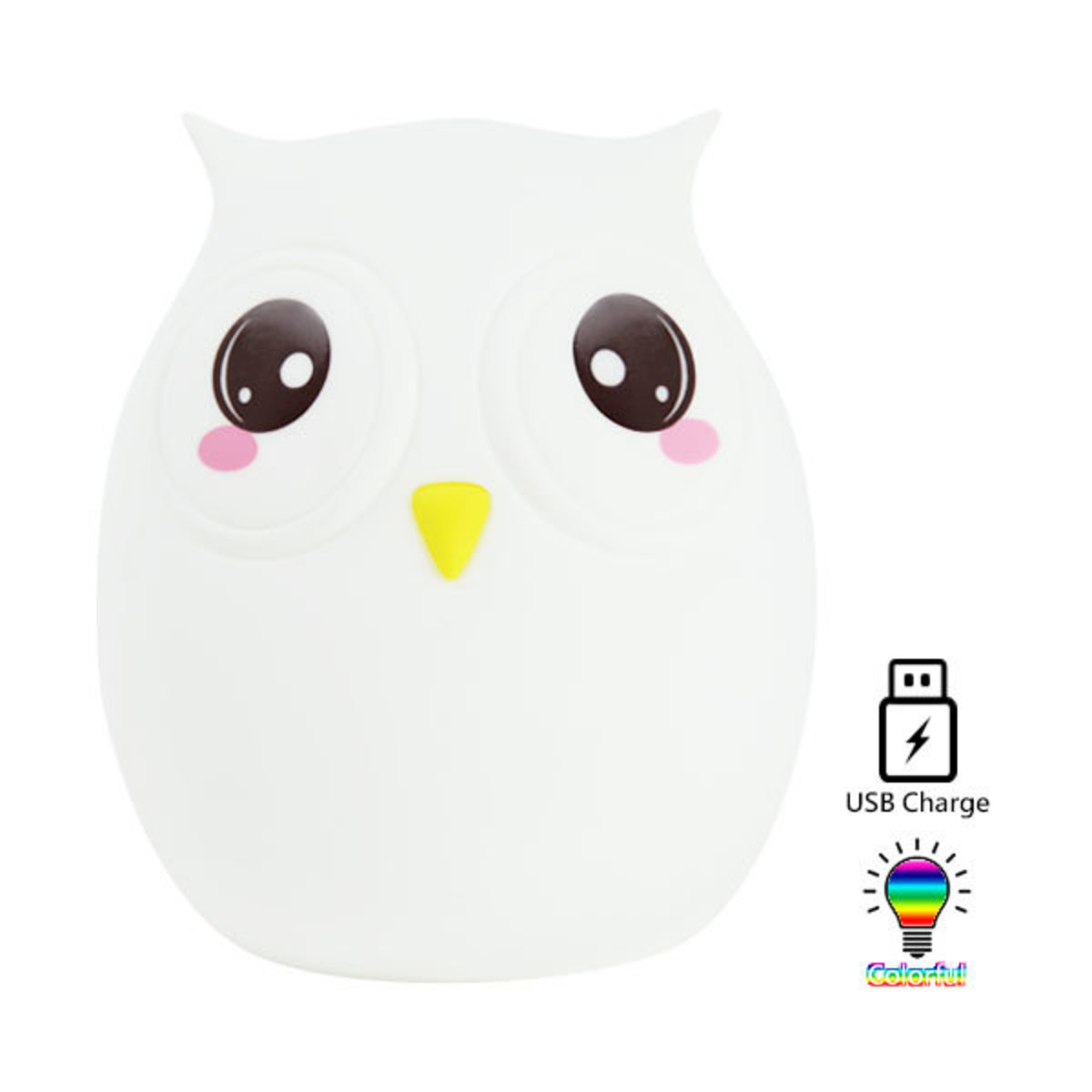 Owl Tap Tap Silicone LED Night Light