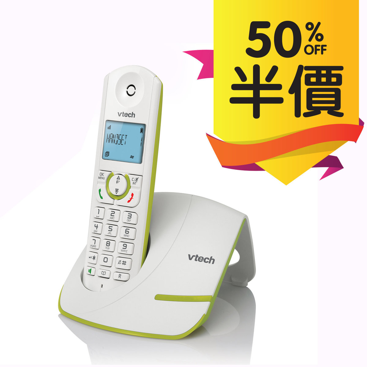 Big button and large character cordless phone with speakerphone [ES1510A]