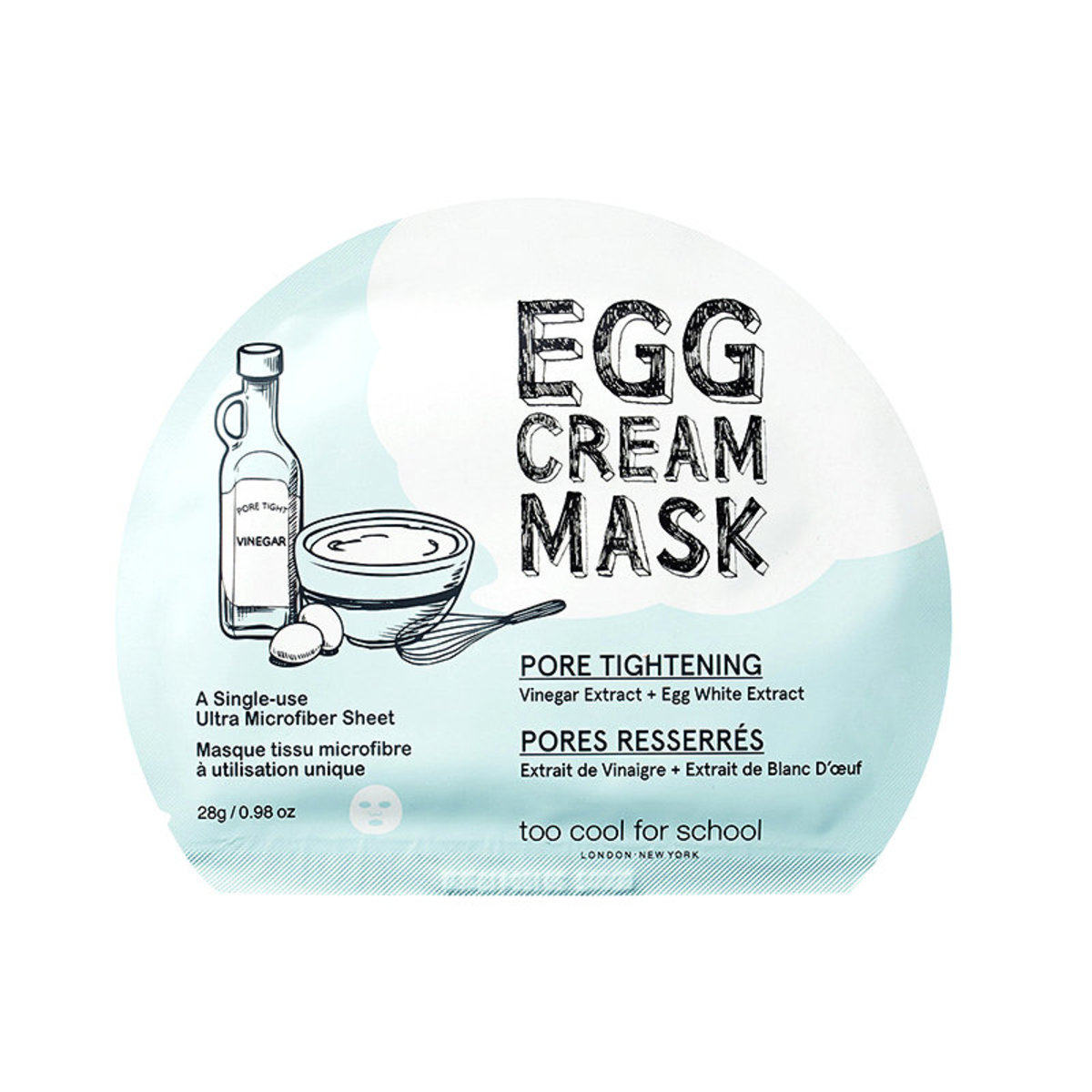 Too Cool for School Egg Cream Mask (Pore Tightening) x5 Pcs (Parallel import)
