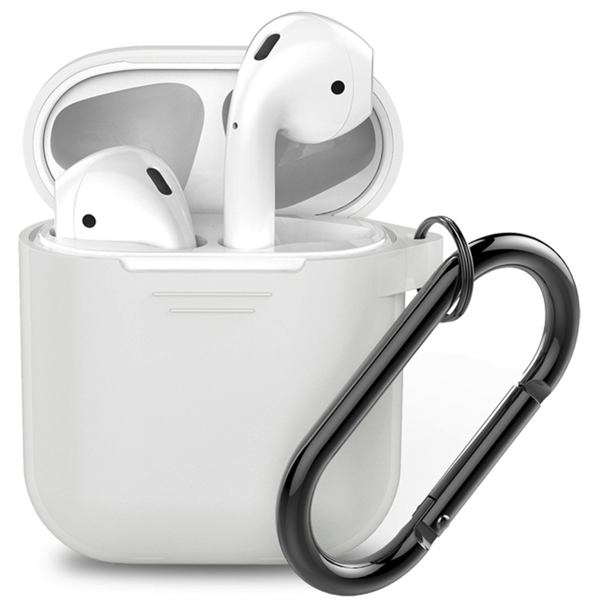 PodFit 2.0  Silicone Case Protective Cover Skin Compatible with Apple AirPods 2 & 1 Frosted Grey