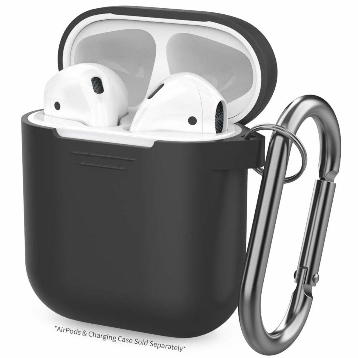 PodFit 2 代AirPods 充電盒矽膠保護殼 黑色