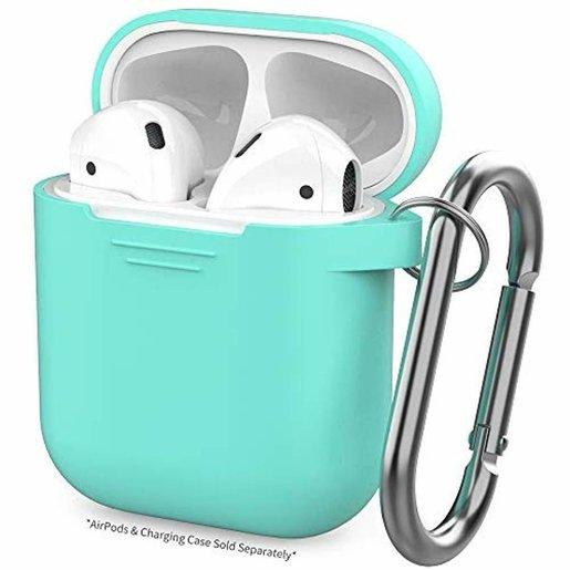 PodFit 2 代AirPods 充電盒矽膠保護殼 湖水綠色