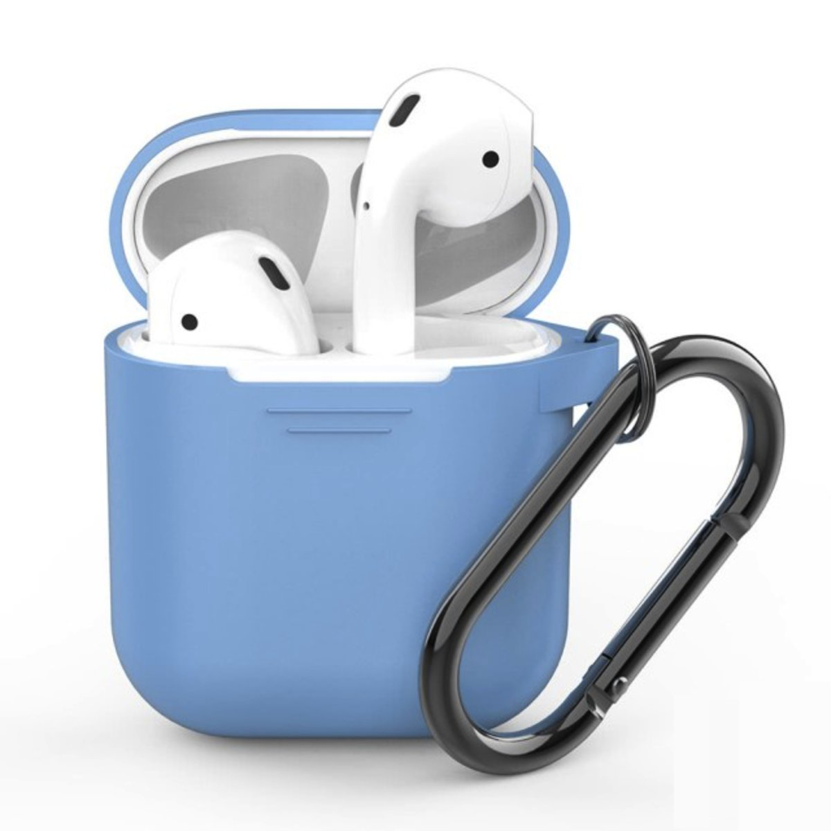 PodFit 2.0  Silicone Case Protective Cover Skin Compatible with Apple AirPods 2 & 1 SKY BLUE