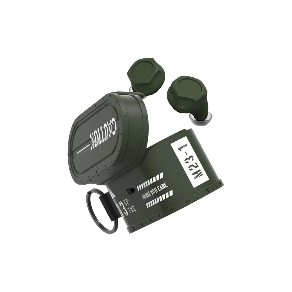 CARGO Military Style True Wireless Bluetooth Earphones GREEN (HK Authorised Product)