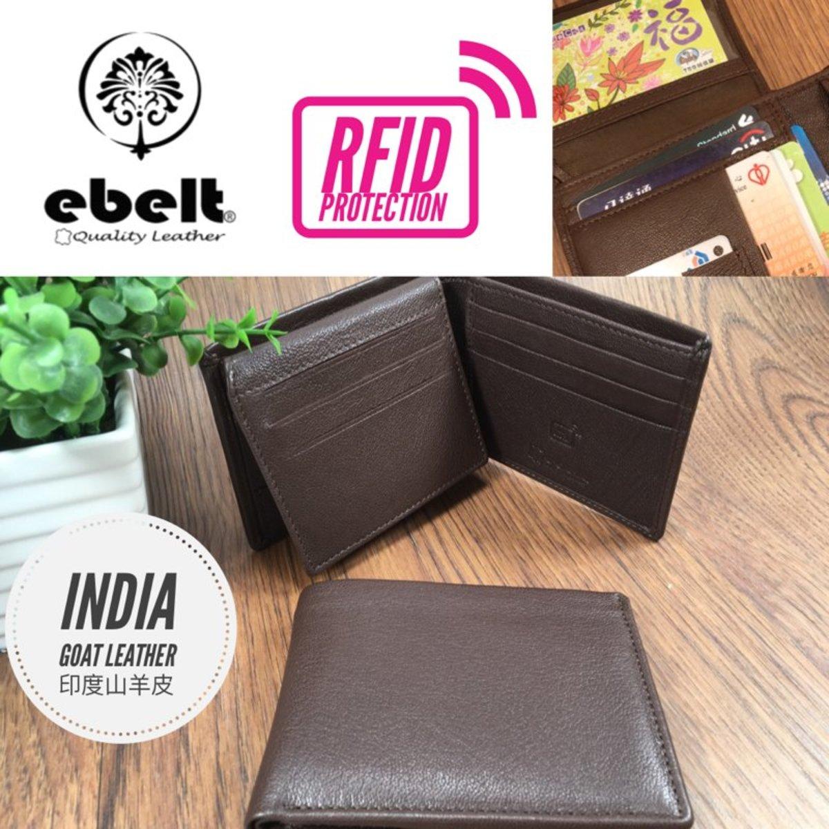 ebelt RFID 印度山羊皮銀包 India Goat Leather Wallet - WM0132