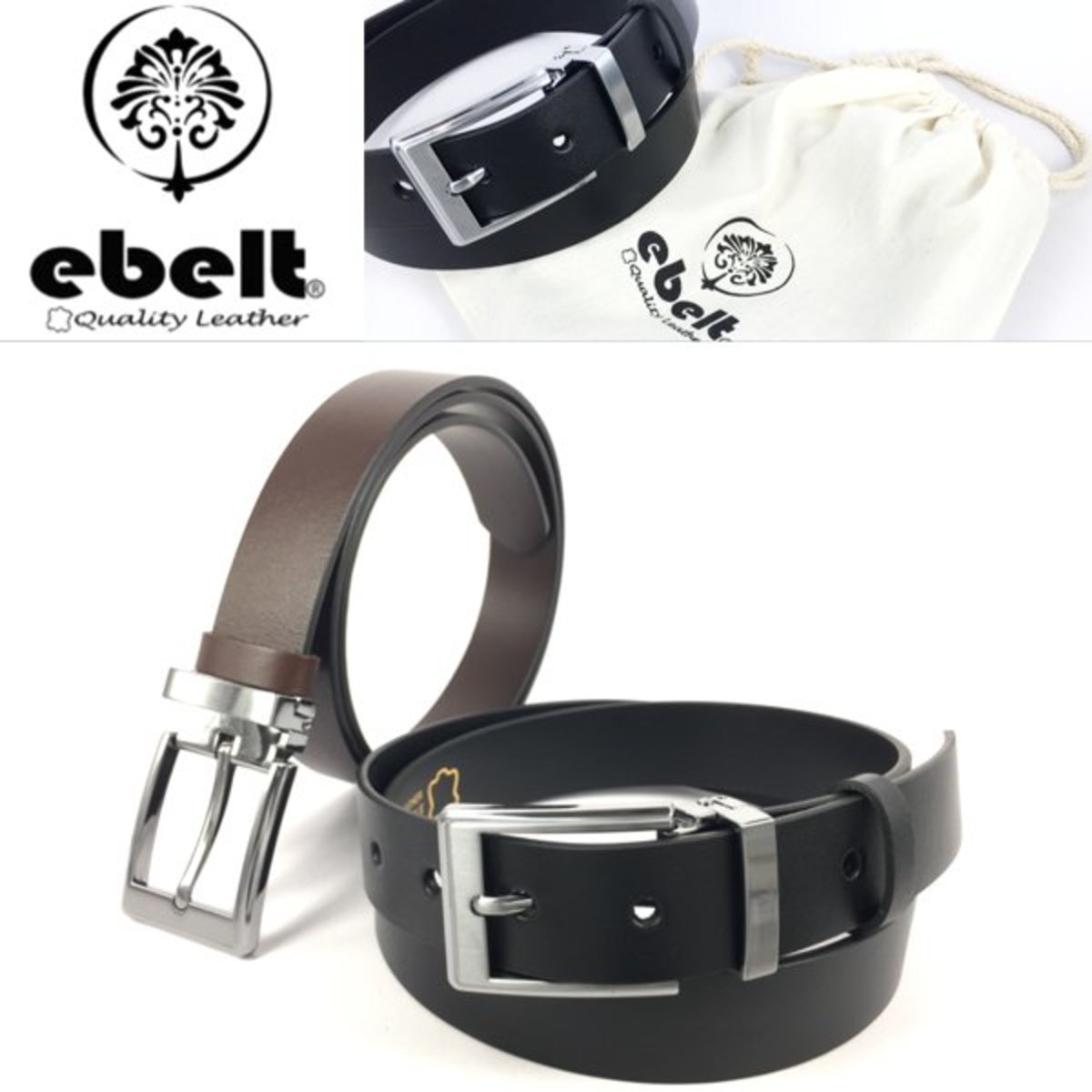 ebelt 頭層意大利頭層牛皮皮帶 Full Grain Italian Cow Leather Belt 2.9cm - ebc0326