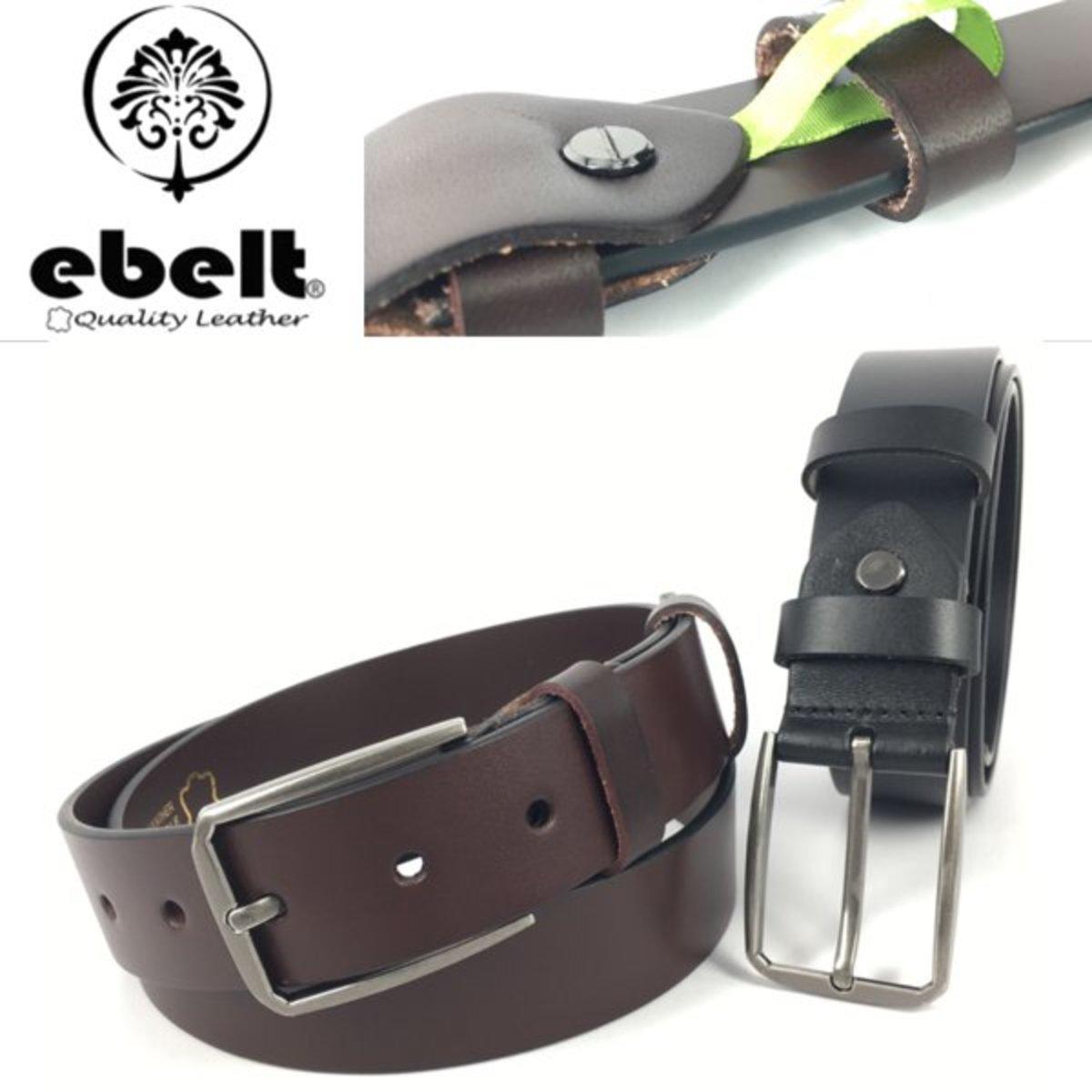 ebelt Full Grain Italian Cow Leather Belt 3.4cm - ebc0329