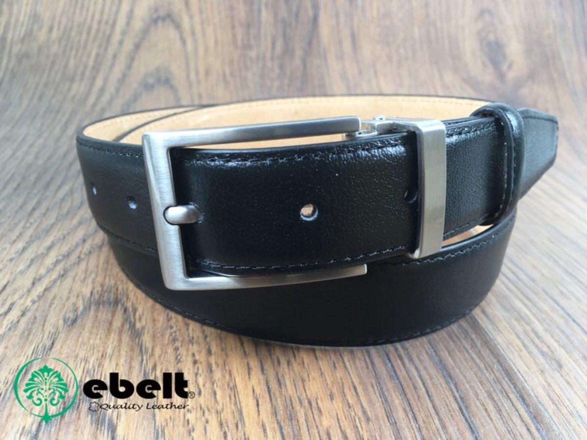 3cm Top Grade Cow Full Grain Leather Belt - ebm0154BLK