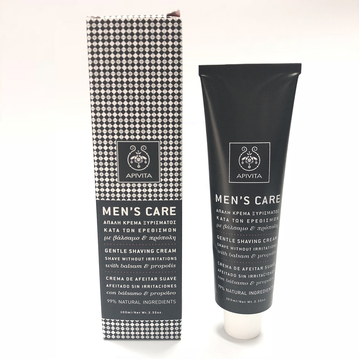 Apivita Men's Care Gentel Shaving Cream 100ml -[Parallel Import Product]