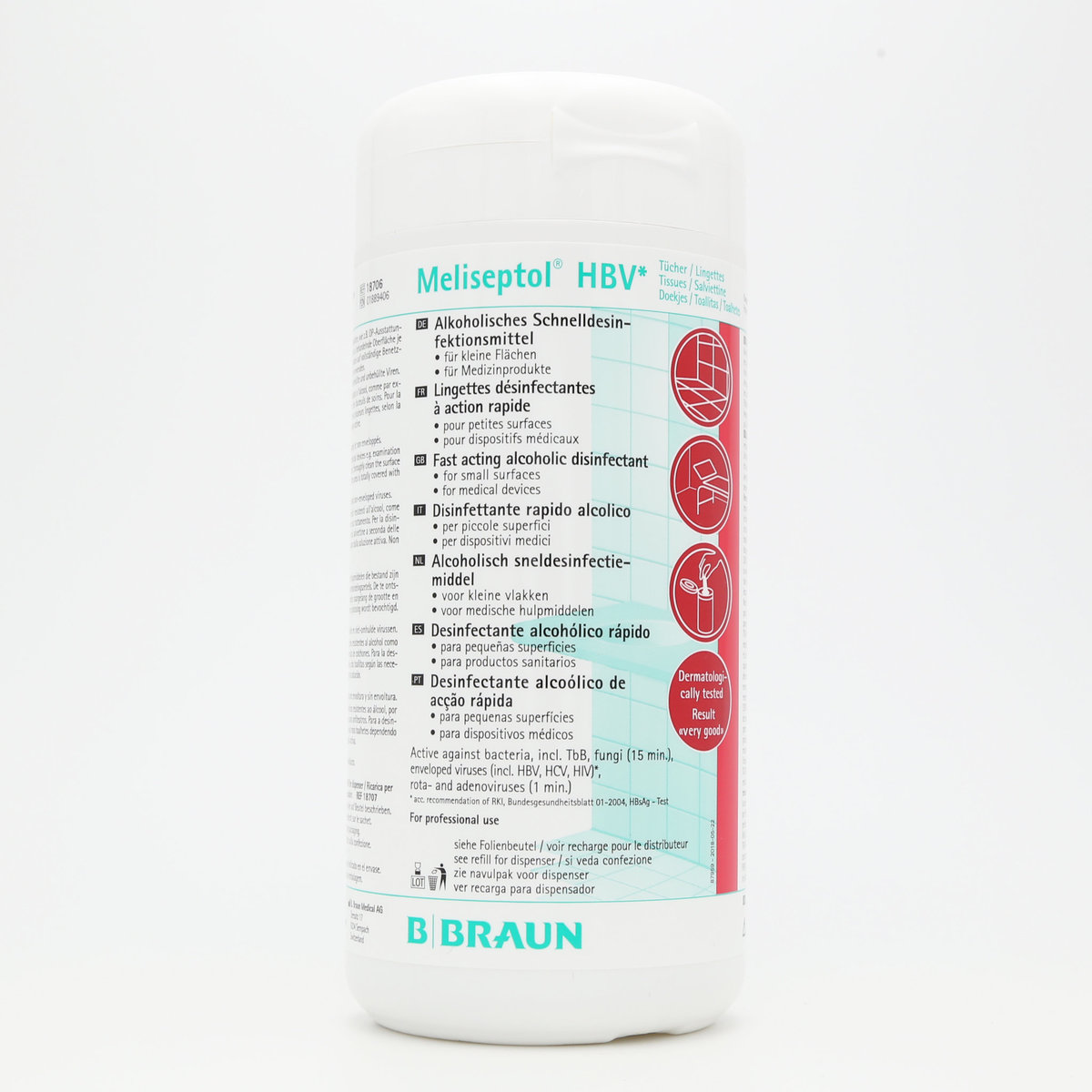 [100wipes] Meliseptol® HBV Tissues-Wipe disinfection of surfaces (alcoholic)-Parallel Imports Product