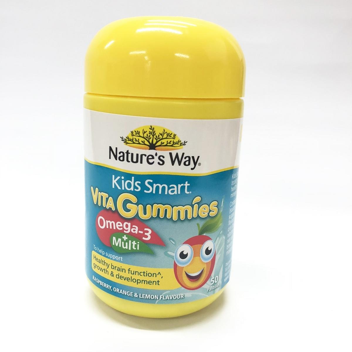 佳思敏 Kids Smart 佳思敏 兒童複合維生素+魚油軟糖 50粒-[平行進口]