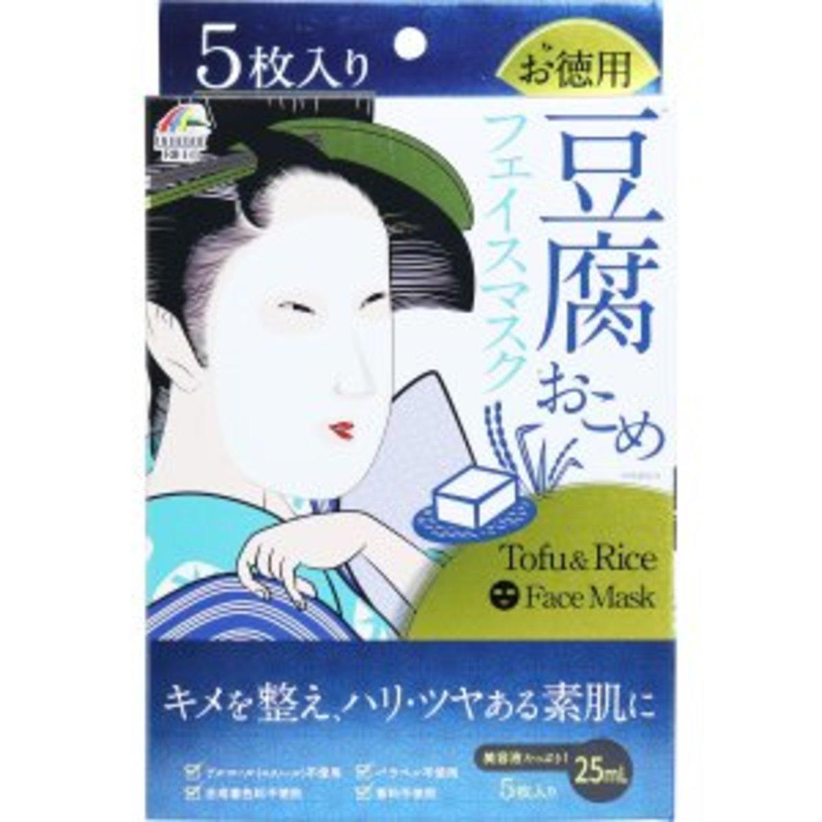 TOFU & RICE FACE MASK  5 SHEETS
