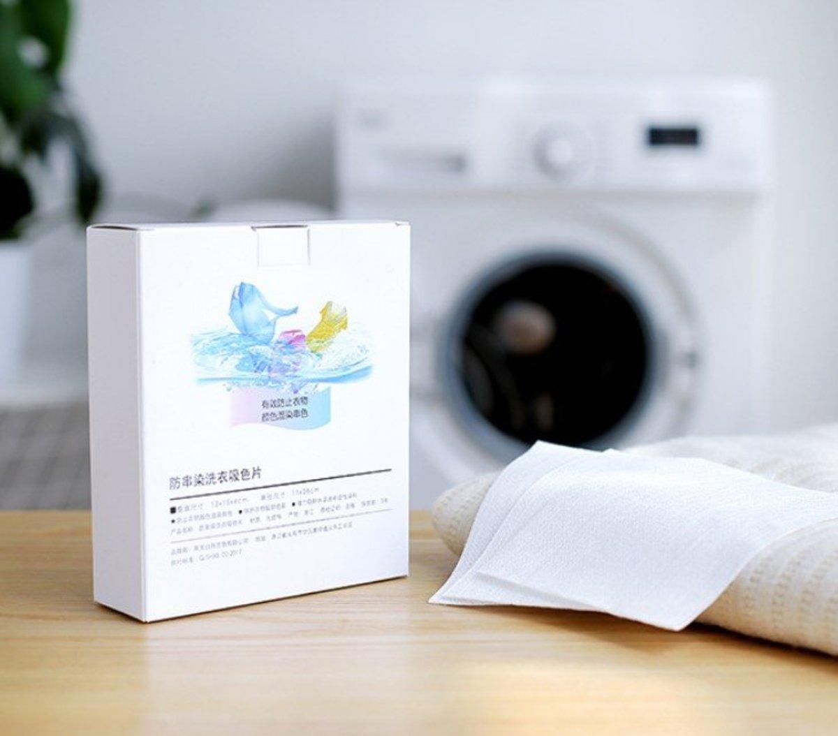 日式防串染洗衣吸色片(24片) 彩漂片/洗衫吸色片_A4