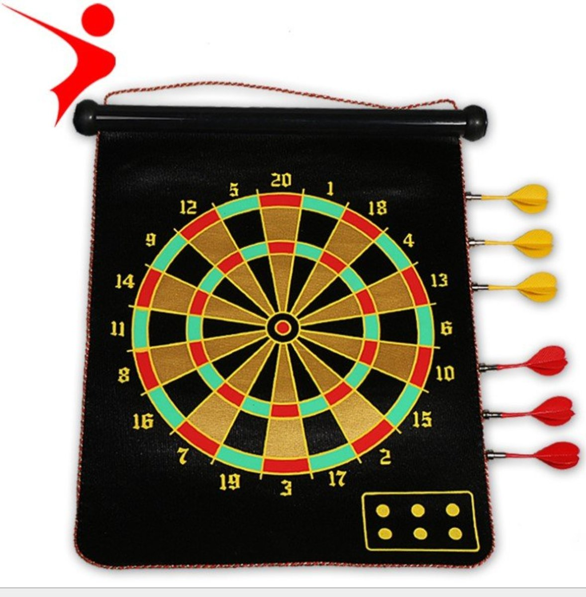 15 inch Magnetic Dart Game (with 6 standard)