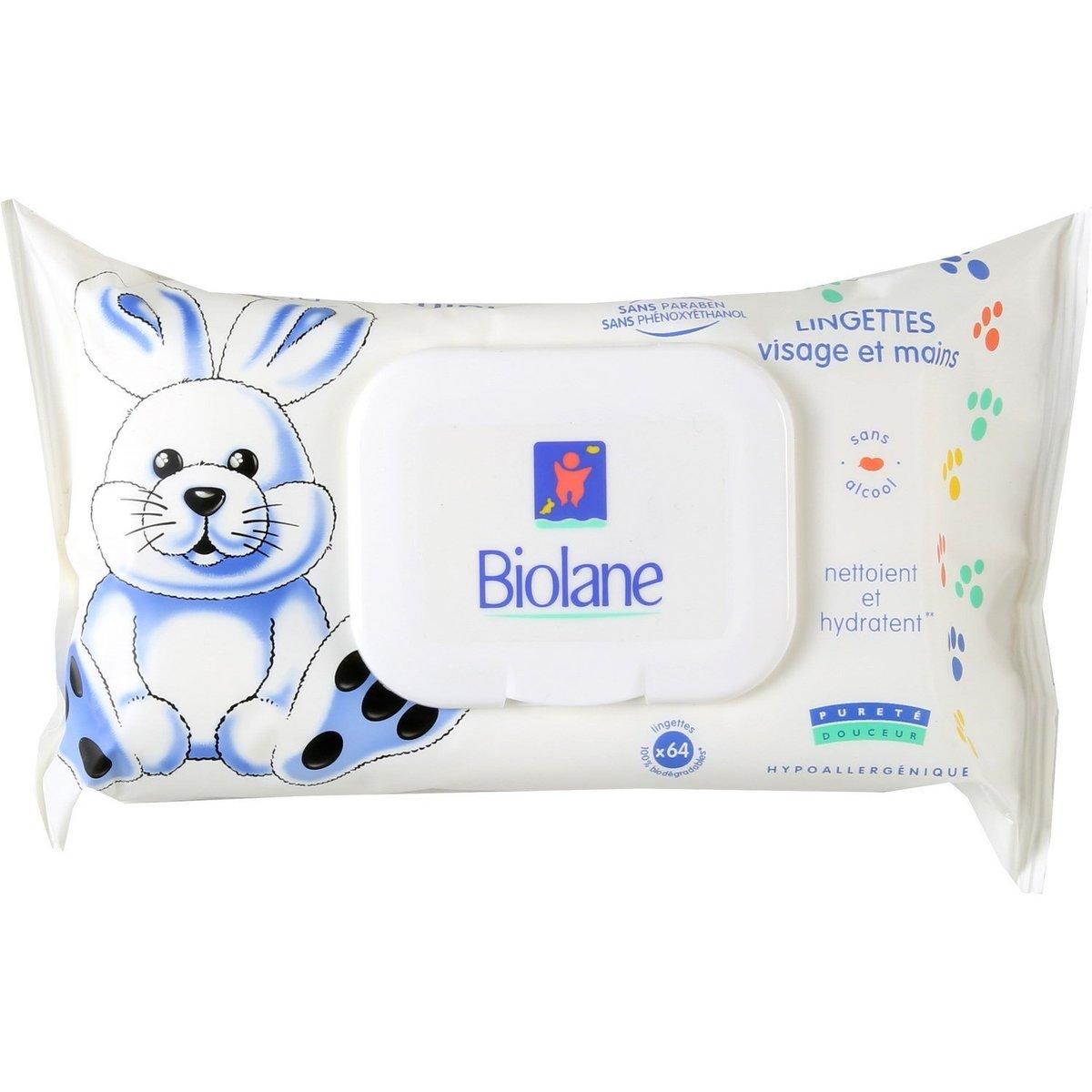 BIOLANE - Face & Hand Wipes - 64 pcs