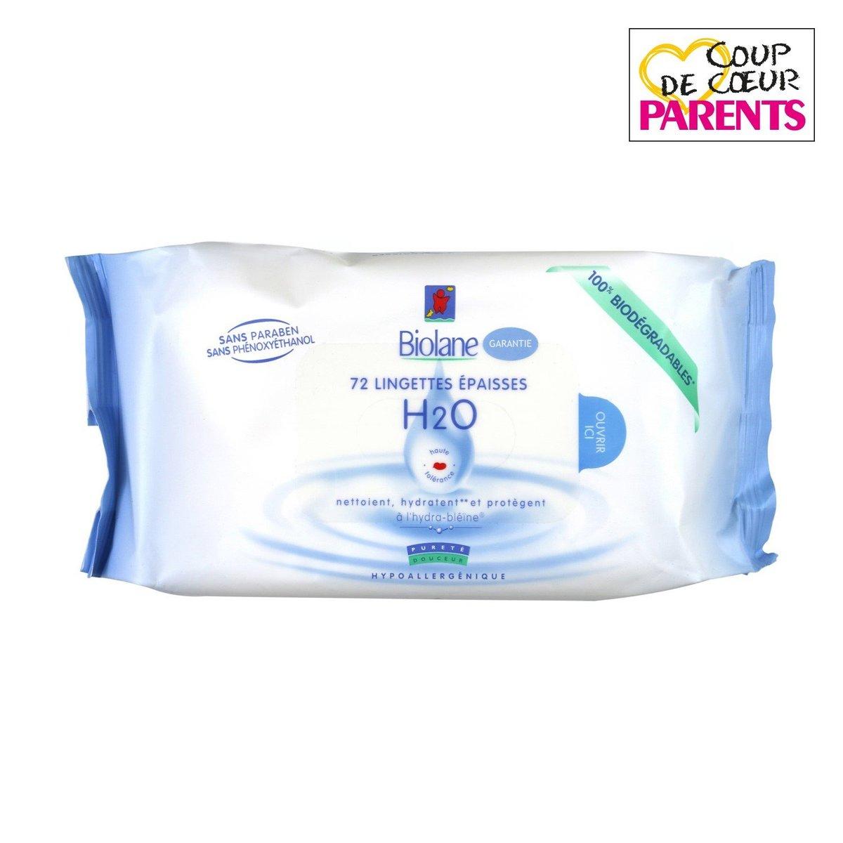 BIOLANE - Baby H2O Wipes - 72 pcs