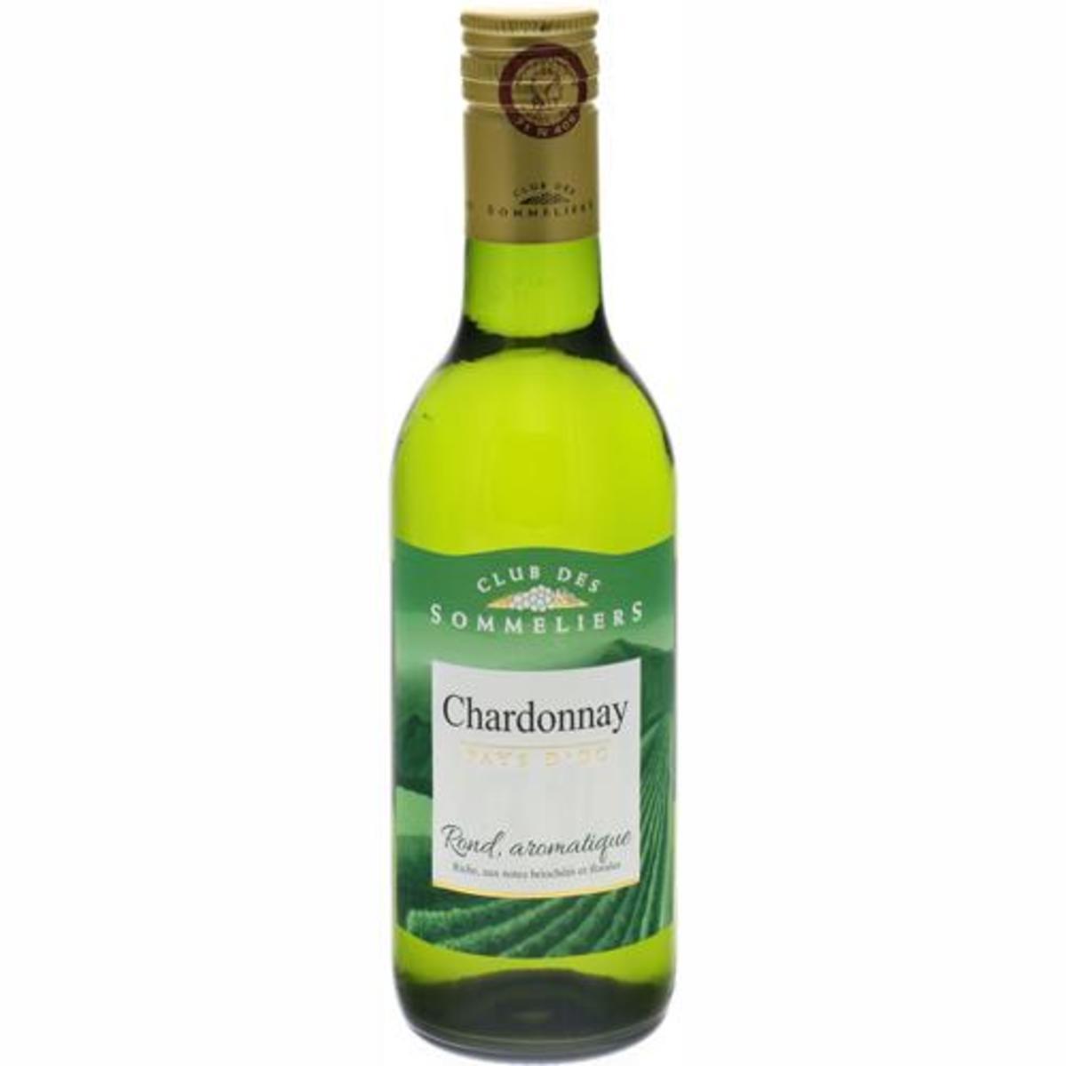 法國直送 - Pays d'Oc Chardonnay White Wine IGP Club Des Sommeliers (250ml)