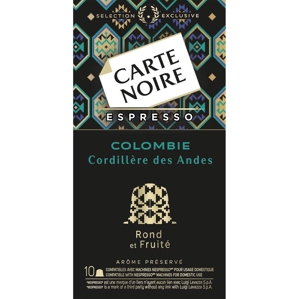 法國直送 - CARTE NOIRE - 哥倫比亞咖啡膠囊  - 10 個- 53g