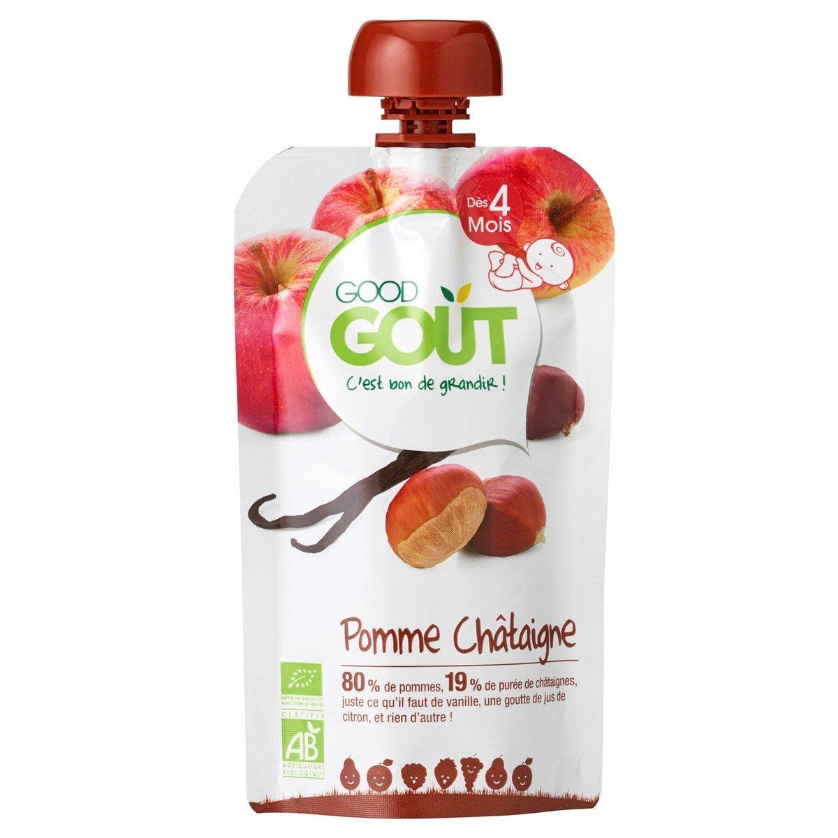 法國直送 - GOOD GOUT - 蘋果栗子果汁 (適合4個月以上)  - 120g