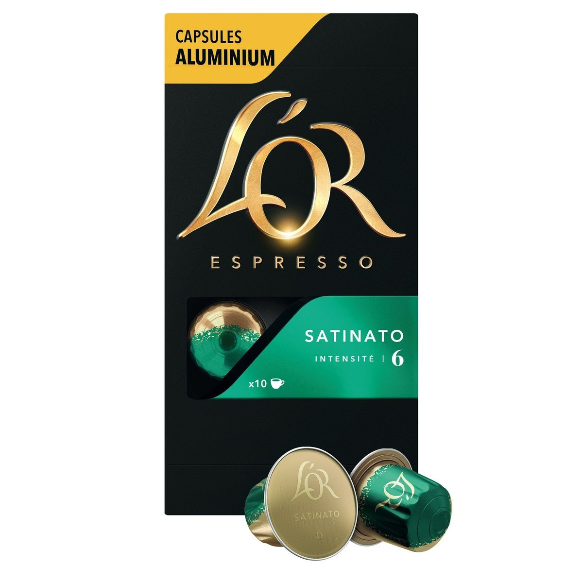 L'OR - Coffee Capsule Satinato Intensity 6   - 10caps - 52g
