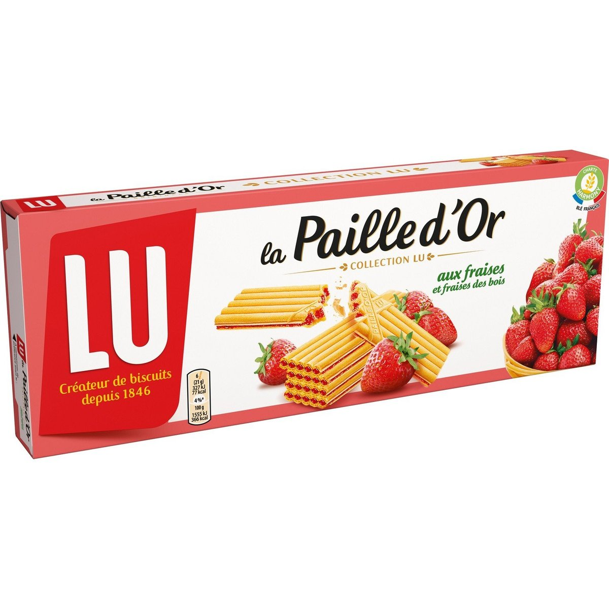 Lu Direct From France Strawberry Waffle Biscuits La