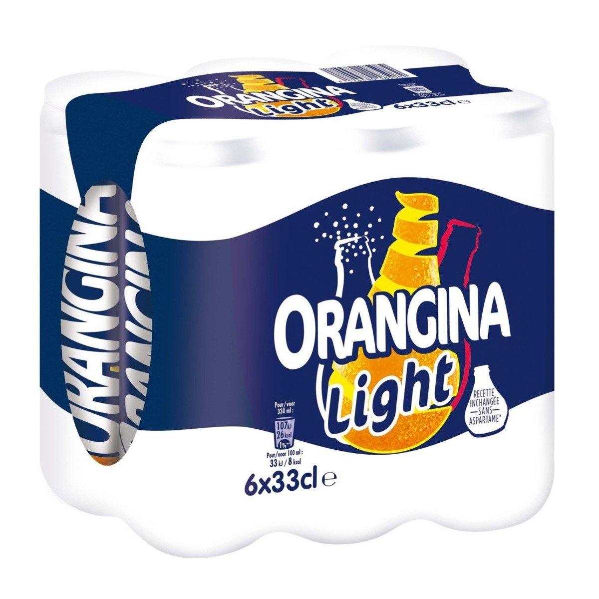 ORANGINA - Sugar Free  Sparkling Orange Juice - 6x330ml