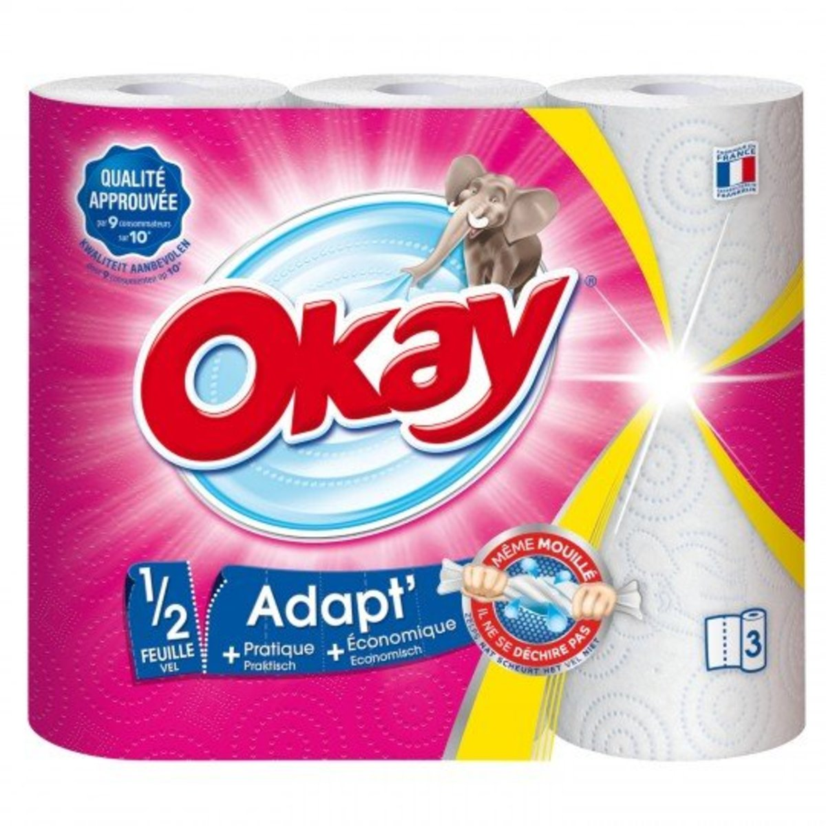 OKAY - Kitchen Towel - 3rolls