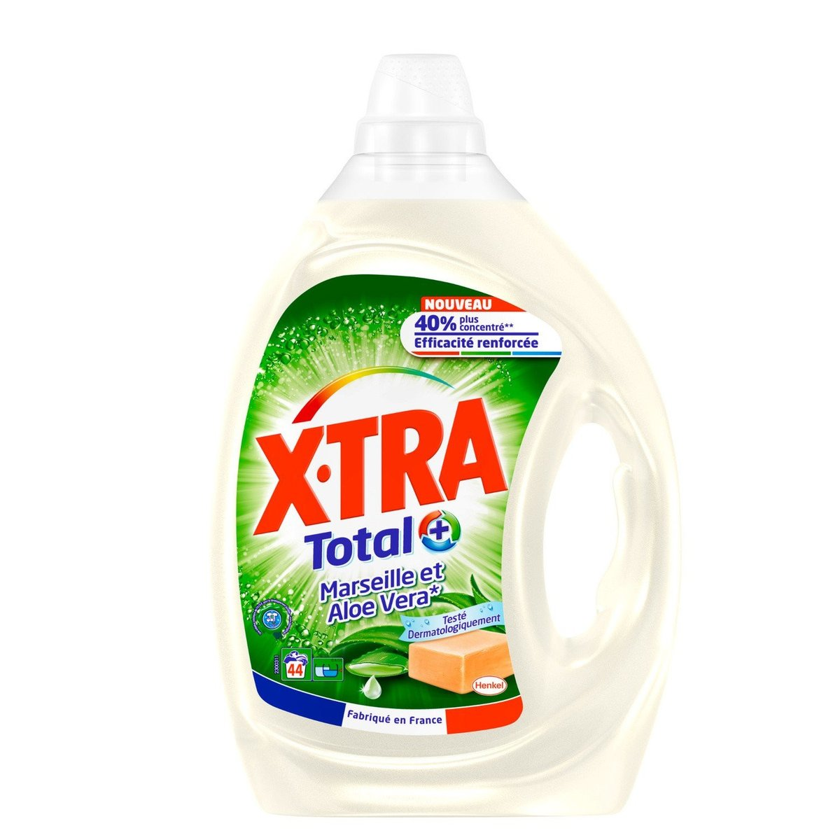 XTRA - Laundry Detergent (Aloe Vera & Marseille Fragrance) - 2.2L